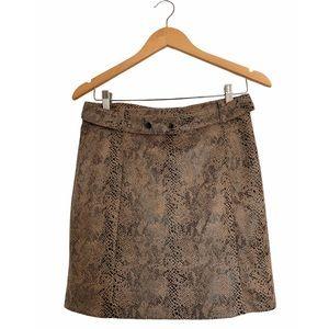 Haute Monde Snake Print Skirt